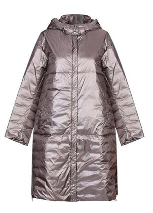 Пуховик с капюшоном,одеяло,оверсайз,add италия 42 -44 размер,s-m
