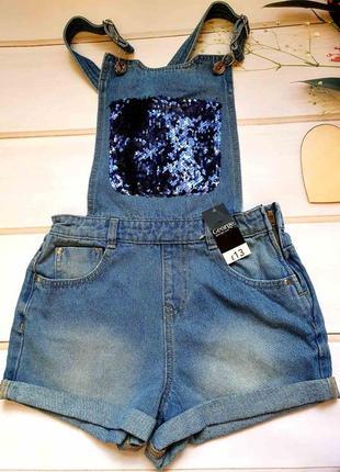 Модний джинсовий комбінезон для дівчинки