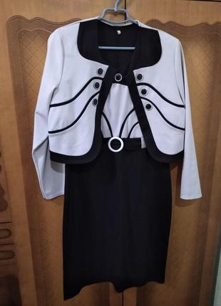 Платье костюм двойка брендовое сукня стильная модная пиджак нарядное exclusive