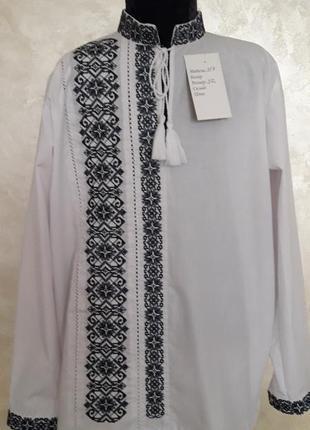 Эксклюзивная вышиванка на рубашечной ткани
