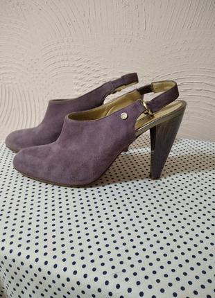 Туфли замшевые marino fabiani