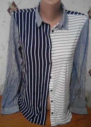 Актуальная рубашка в полоску zara