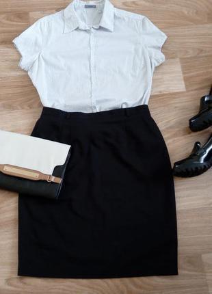 Блузка-рубашка в мелкий горошек