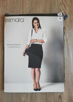 Шикарная офисная юбка карандаш в полоску esmara