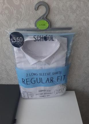 В наличие фирменная,белоснежная рубашка для первоклашки от matalan,116 рост 6лет!