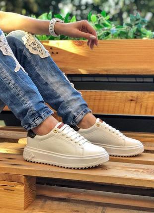 Louis vuitton sneakers женские кроссовки в белом цвете кожа (36-40)💜