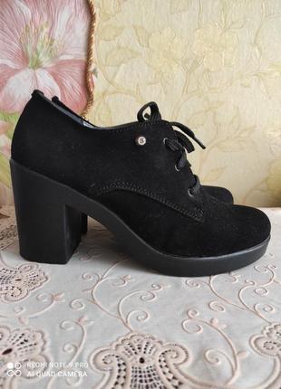 Продам туфли полуботинки нат.замша