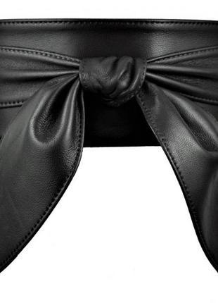 Женский пояс кушак черный