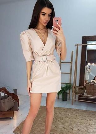 Платье из кожи💣