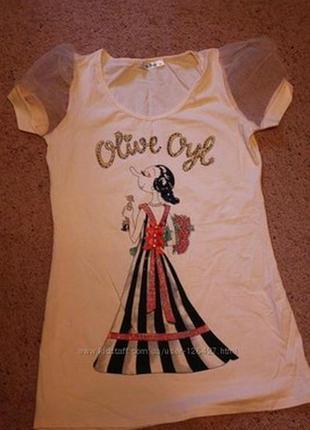 Туничка, футболка olive oyl moschino
