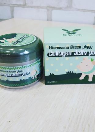Коллагеновая маска для лицаelizavecca green piggy collagen jella pack