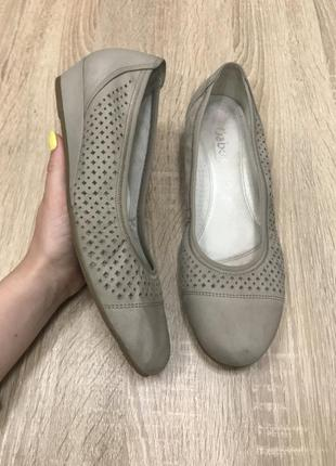 Gabor 39 р кожа туфли мокасины туфлі мокасини .