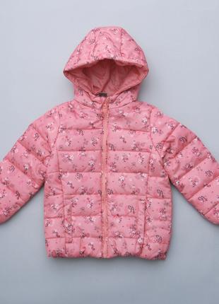 Куртка демисезонная, ultralight с цветочным принтом pepco