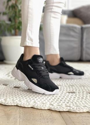 Adidas falcone шикарные кроссовки адидас фалкон черный цвет (36-45)
