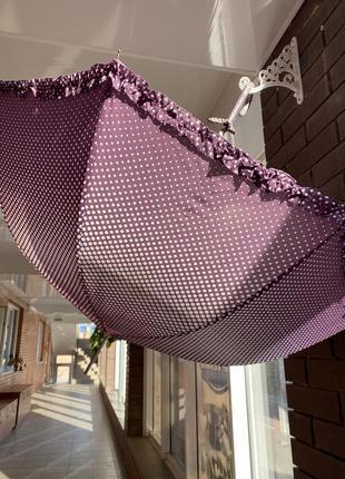 Милый зонт в горошек