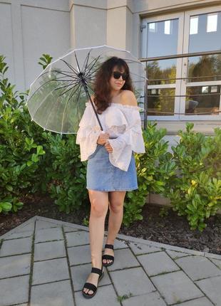 Прозора парасолька парасоля для фотосесії / прозрачный зонтик зонт женский
