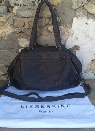 Liebeskind berlin оригинал шикарная сумка натуральная кожа