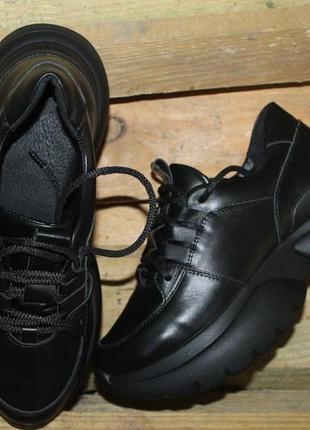 Топ качество, кроссовки черные, кожа натуральная, с 36-41р5 фото
