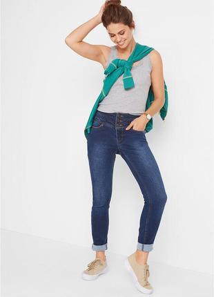 Котоновве качественные джинсы бонпри с утяжкой высокой талией