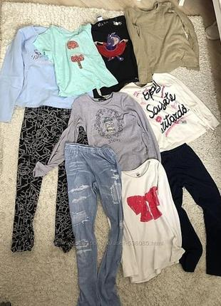 Лот б/у одежды для девочки на 8-10лет
