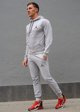 Cерый мужской спортивный костюм jordan (джордан), весна-осень