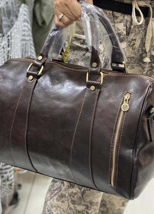 Дорожная кожаная сумка спортивная сумка из натуральной кожи шкіряна дорожна сумка