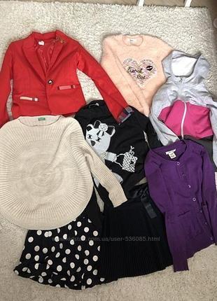 Лот б/у одежды для школы на 8-10лет