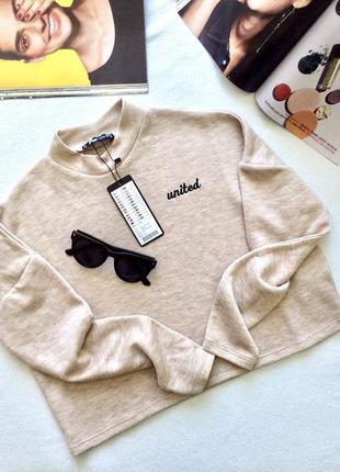 Кофта укороченная, джемпер, свитерок, кроп топ, fb sister