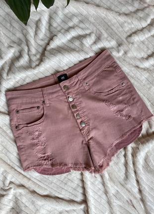 Стильные джинсовые шорты, с рваностями