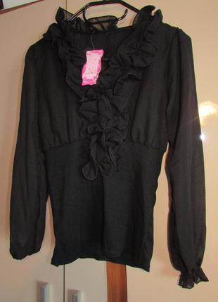 Блуза з шифоновими рукавами