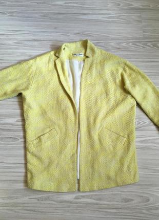 Весенние пальто oversize/boyfriend лимонно-желтого цвета miss selfridge