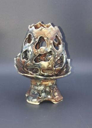 Подсвечник керамика глазурь