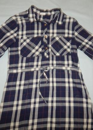 Платье модное на девочку в клетку 8 лет 128 см zara
