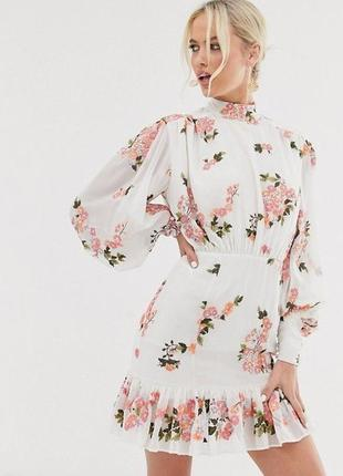 Потрясающее платье с вышивкой в цветы, вышитое платье asos edition, вышиванка,