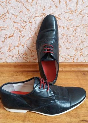 Туфли кожаные dune 28см туфлі