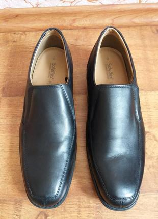 Кожаные туфли soleflex 28см туфлі