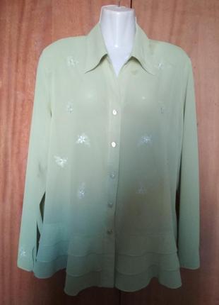 Блуза шелковая ,нарядная.