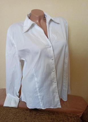 Рубашка gerry weber белая, блуза белая gerry weber