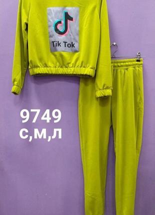 Спортивный костюм двойка двунитка штаны джемпер в цветах