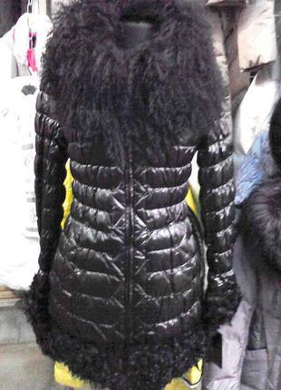 Куртка пуховик черная 42-50