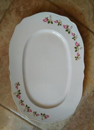 Блюдо керамика 20.5 см.на 30 см.украина