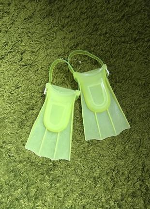 Ласты детские пластиковые регулируемые для малышей дитячі