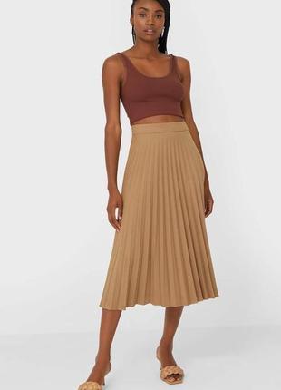 Стильная юбка плиссе плисерованная юбка