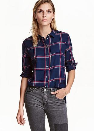 Оригинальная фланелевая рубашка от бренда h&m разм. 34