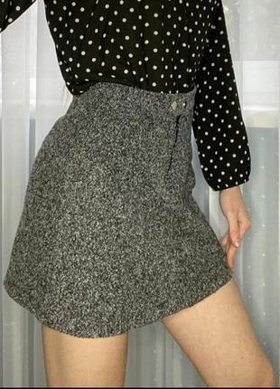 Серая короткая юбка, bershka