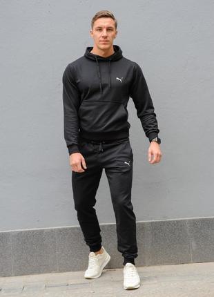 Черный мужской спортивный костюм puma