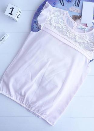 Нежно-розовая блузочка