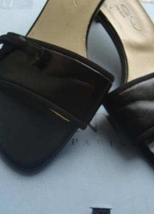 Шлепки стукалки next кожзам бантик р. 37 низкий каблук