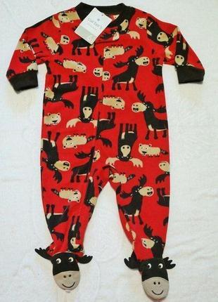 Carters новые флисовые человечки пижамы картерс