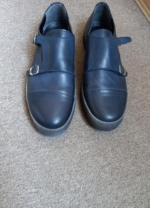 Кожаная качественная стильная обувь туфли кроссовки монки strom (made in portugal)